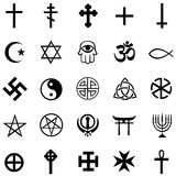 Vector set of religious symbols Royalty Free Stock Images
