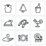 Vector Set of Restaurant Icons.  Stock Photography