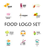 Vector set of restaurant logo design tempaltes. Royalty Free Stock Photo