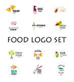 Vector set of restaurant logo design tempaltes. Royalty Free Stock Photo