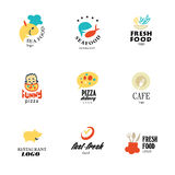 Vector set of restaurant logo design tempaltes. Stock Image