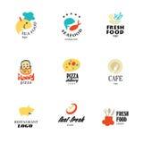 Vector set of restaurant logo design tempaltes. Stock Image