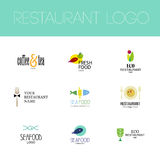 Vector set of restaurant logo design Royalty Free Stock Photography