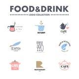 Vector set of restaurant logo design templates. Stock Photos
