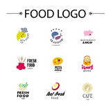 Vector set of restaurant logo design templates. Royalty Free Stock Photo