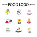 Vector set of restaurant logo design templates. Royalty Free Stock Photo