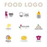 Vector set of restaurant logo design templates. Royalty Free Stock Photos