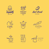 Vector set of restaurant logo design templates. Stock Photos
