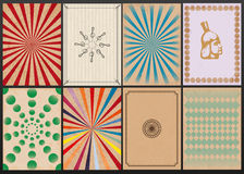 Vector set of retro backgrounds Royalty Free Stock Photo
