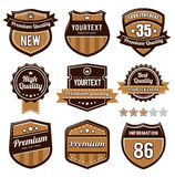 Vector set of retro badges Stock Photography