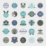 Vector set of retro badges, vintage labels, icons. Easy editable Royalty Free Stock Photography