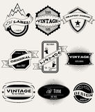 Vector set of retro banners for design. Vector set of vintage banners for retro design Stock Photo