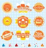 Vector Set: Retro Candy Corn Labels vector illustration