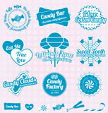Vector Set: Retro Candy Shop Labels and Icons Royalty Free Stock Photography