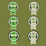 Vector set of retro green  badges Royalty Free Stock Photos