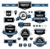 Vector set of retro labels Stock Photography
