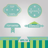 Vector set of retro labels Royalty Free Stock Photography