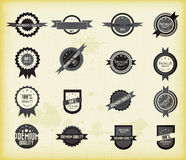 Vector set of retro labels Royalty Free Stock Photo