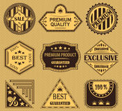 Vector set of retro labels Stock Photos