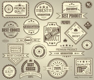 Vector set of retro labels Stock Images