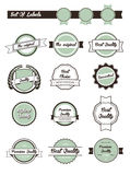 Set of retro labels, buttons and icons Stock Photography