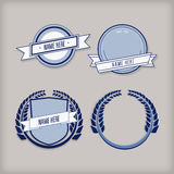 Vector set of retro labels, buttons and icons. Stock Photo