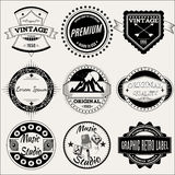 Vector set of retro labels for design. Vector set of retro labels for retro design Royalty Free Stock Photography