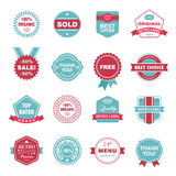 Vector set of retro labels, stickers, badges Stock Image