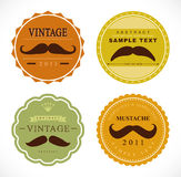 Vector set: retro mustache vintage fancy labels Stock Image