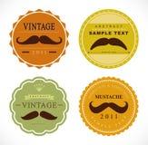 Vector set: retro mustache vintage fancy labels Stock Image
