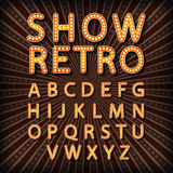 Vector set Retro neon sign, vintage billboard, bright signboard, light banner Stock Photo