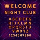 Vector set Retro neon sign, vintage billboard, bright signboard, light banner Stock Images