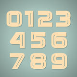 Vector set retro numbers Stock Photos