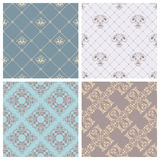 Vector set of retro seamless patterns. Stock Image