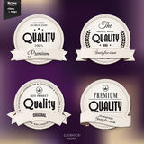 Vector set of retro stamp, sticker, tag, label, Royalty Free Stock Photos
