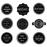 Vector Set of Retro Stamps and Badges Royalty Free Stock Photos