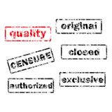 Vector Set of Retro Stamps. Set of Retro Stamps, Vintage Design Vector Illustration Royalty Free Stock Photos