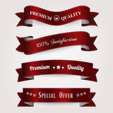 Vector set of retro vintage labels. Stock Image