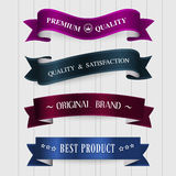 Vector set of retro vintage labels. Royalty Free Stock Photography