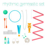 Vector set of rhythmic gymnastic elements. Stock Images