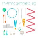 Vector set of rhythmic gymnastic elements. Stock Images