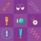 Vector set of rhythmic gymnastic elements. Stock Photos