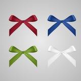 Vector set of ribbon bows. Vector set of four colorful ribbon bows Royalty Free Stock Photos