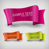 Vector set of ribbon labels. Stock Image