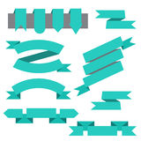 Vector set of ribbons,bookmarks in flat style Stock Photography