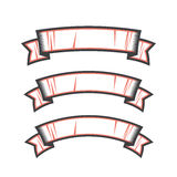 Vector set of ribbons Royalty Free Stock Images