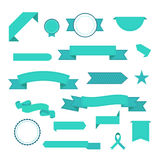 Vector set of  ribbons. Modern flat icons in stylish colors. Icons for Web and Mobile Application. EPS 10. Isolated. Stock Photo