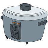 Vector set of rice cooker. Hand drawn cartoon, doodle illustration vector illustration
