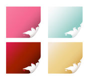 Vector set of ripped page corners Royalty Free Stock Image