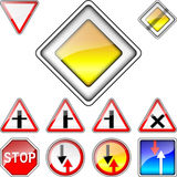 Vector set of road signs priority Royalty Free Stock Photography